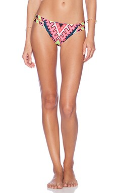 Mara Hoffman Two Strap Bikini Bottom in Horizon Green
