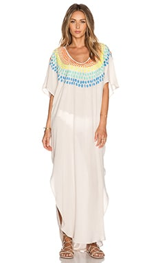 Mara Hoffman Embroidered Caftan in Stone