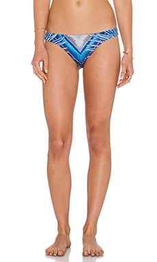 Mara Hoffman Low Rise Bikini Bottom in Rising Palm Blue