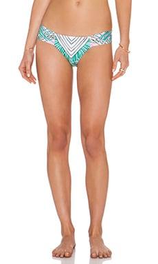 Mara Hoffman Side Ruched Bikini Bottom in Rising Palm Pink