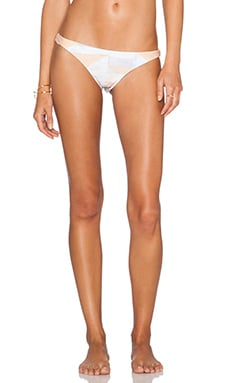 Mara Hoffman Ruched Brazilian Bottom in Loom Peach