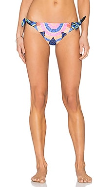 Tie Side Brazilian Bikini Bottom in Starbasket Navy