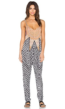 Mara Hoffman Low Back Jumpsuit in Starbasket White