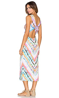 Mara Hoffman Tie Back Midi Dress in Rainbow Roll