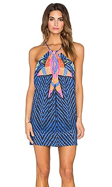 Mara Hoffman Draped Side Mini Dress in Starbasket Navy