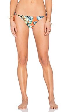 Reversible Tie Side Bikini Bottom in Cactus Floral Poppy