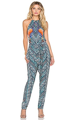 Mara Hoffman High Neck Jumpsuit in Peacocks Green