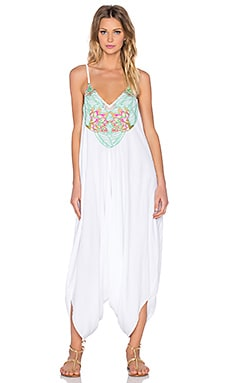 Mara Hoffman Floral Embroidered Jumpsuit in White