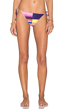 Mara Hoffman Solstice Tie Side Bikini Bottom in Bubble Gum