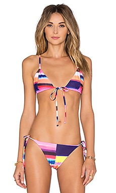Solstice Triangle Bikini Top in Bubble Gum