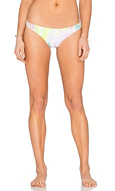 Reversible Low Rise Bikini Bottom in Flora White