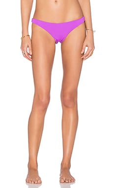 Mara Hoffman Ruched Brazilian Bikini Bottom in Purple