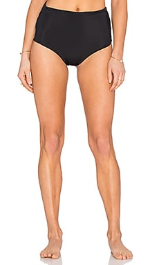 Mara Hoffman High Waist Cut Out Bikini Bottom in Black