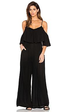 Mara Hoffman Flounce Jumpsuit in Black