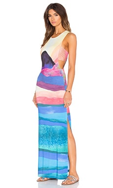 Tie Back Maxi Dress in Landscape