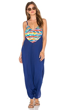 Mara Hoffman Embroidered Jumpsuit in Landscape Rainbow