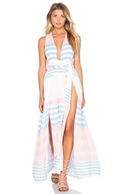 Robe Maxi en Field Stripe