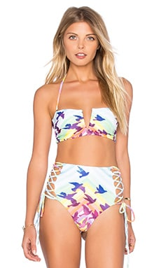 Mara Hoffman V Wire Bikini Top in Prismatic