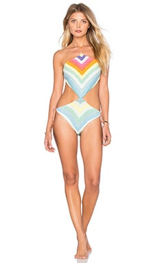 One Piece Swimsuit in Prismatic Crochet