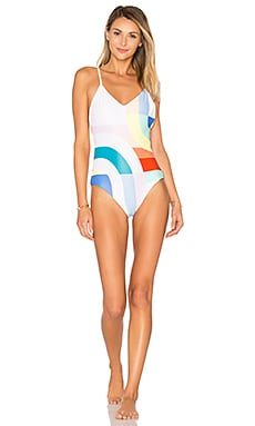 Classic One Piece in White Multi