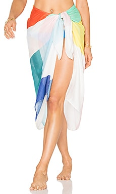 Sarong in White Multi