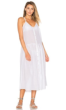 Drop Waist Midi Dress in White