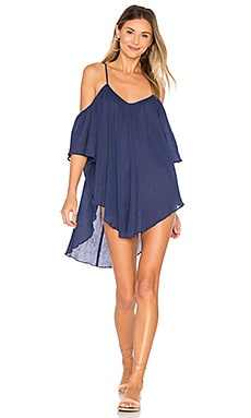 Off Shoulder Tank Dress en Indigo