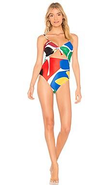 Купить Слитный купальник kia - Mara Hoffman, Слитные купальники, США, Красный