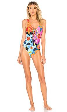Купить Слитный купальник desa - Mara Hoffman, Слитные купальники, США, Синий