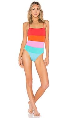 Купить Слитный купальник olympia - Mara Hoffman, Слитные купальники, США, Оранжевый