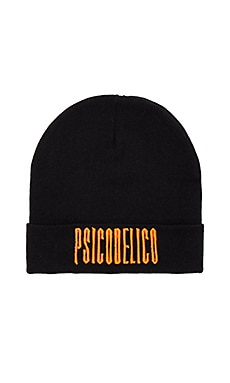 Marcelo Burlon Licancabur Beanie in Black & Orange