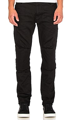 Marcelo Burlon Biker Slim Denim in Black Wash