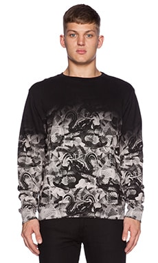 Marcelo Burlon Allover Snake Sweatshirt in Black