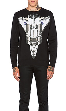 Marcelo Burlon Chapello Crew in Black White
