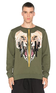 Marcelo Burlon Groningen Crew in Military Green