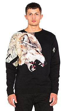 Marcelo Burlon Cruces Crewneck in Black Multi