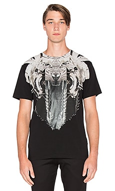 Marcelo Burlon Rawson Tee in Black White