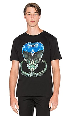 Marcelo Burlon Musters Tee in Black Blue