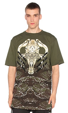Marcelo Burlon Vertientes Tee in Military Green
