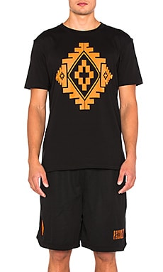 Marcelo Burlon Staff Tee in Black & Orange