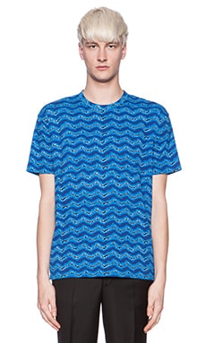 Marc by Marc Jacobs Electric Ikat Jersey in Blue Multi