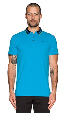 Marc by Marc Jacobs Multi Stripe Rib Polo in Vivid Blue