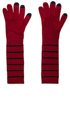 Marc by Marc Jacobs Eva Gloves in Cabernet Red Multi
