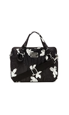 Marc by Marc Jacobs Pretty Nylon Painted Flower 13' Computer Bag in Black Multi