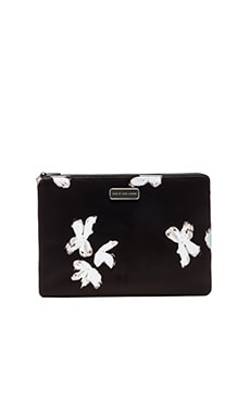 Marc by Marc Jacobs Neoprene Painted Flower 13' Zip Cutout Case in Black Multi