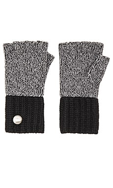 Marc by Marc Jacobs Patchwork Wool Gloves in Dark Grey Melange Multi