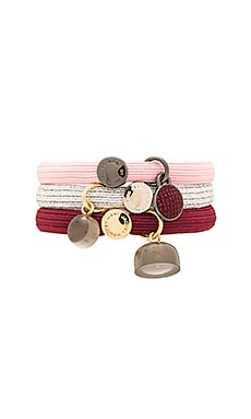Marc by Marc Jacobs Pave Disc Cluster Ponies in Cherry Multi