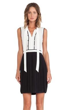 Marc by Marc Jacobs Frances Color Block Silk Dress in Black Multi