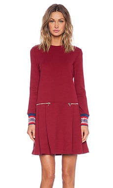 Marc by Marc Jacobs Jayden Long Sleeve Dress in Cabernet Red Multi