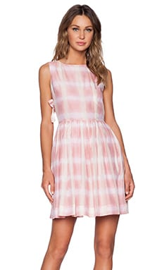 Marc by Marc Jacobs Blurred Gingham Dress in Piggy Pink Multi